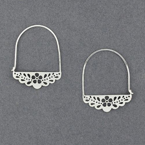 Flower Lace Hoop Earrings