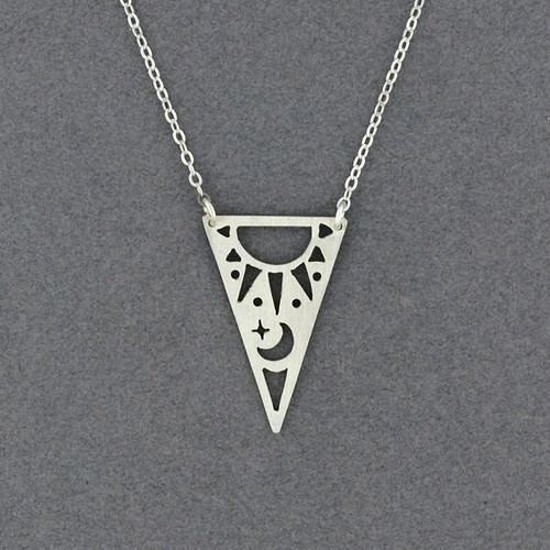 Triangle Sun & Moon Necklace