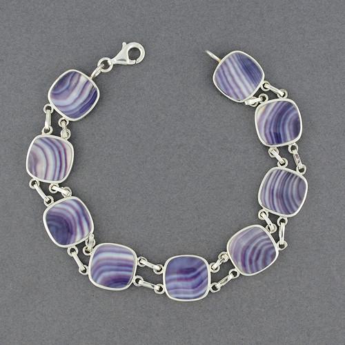 Wampum Square Link Bracelet