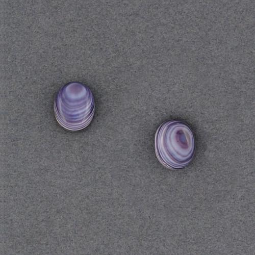 Wampum Oval Post Earring