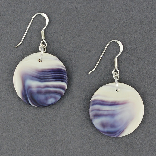 Wampum Large Natural Round Earring