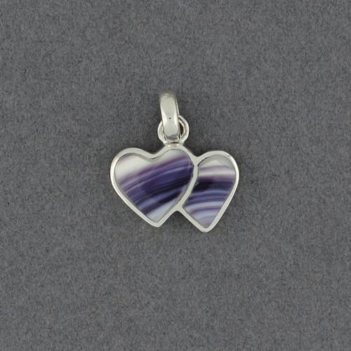 Wampum Two Hearts Pendant