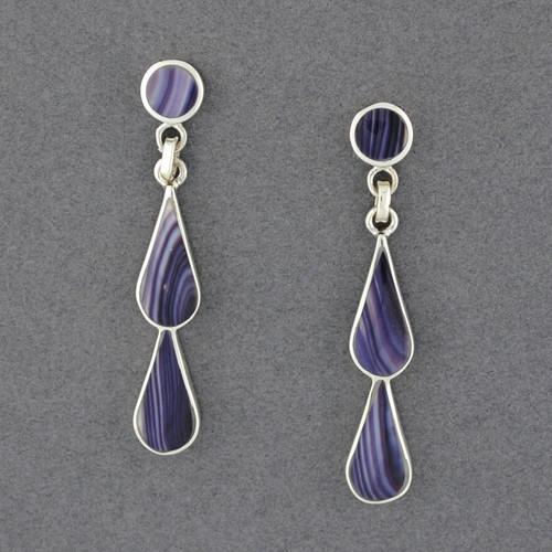 Wampum Double Teardrop Earring