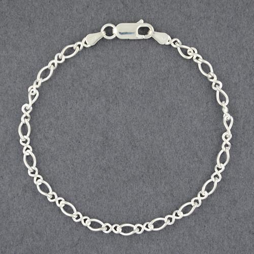Sterling Silver Figure Eight Bracelet