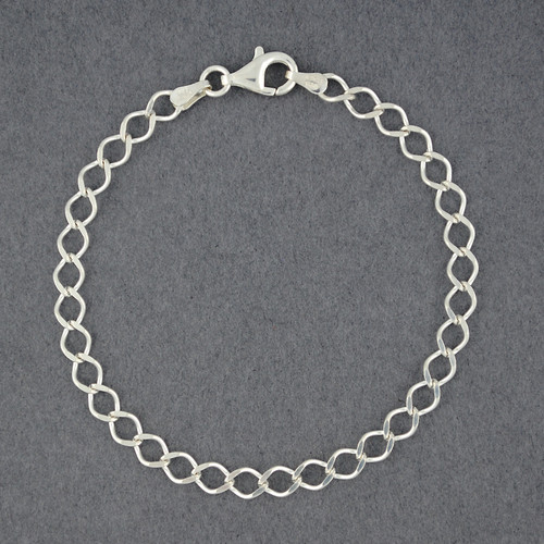 Sterling Silver Rombo Link Braceet
