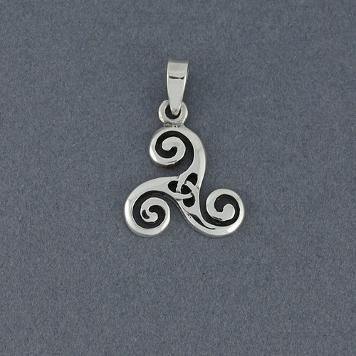 Sterling Silver Small Triskele Pendant