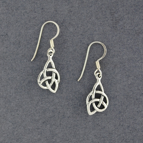 Sterling Silver Abstract Celtic Knot Earrings