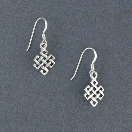 Sterling Silver Endless Knot Earrings