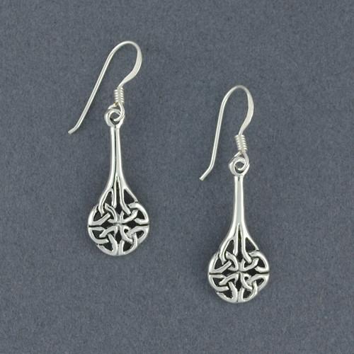 Sterling Silver Celtic Shield Knot Earrings