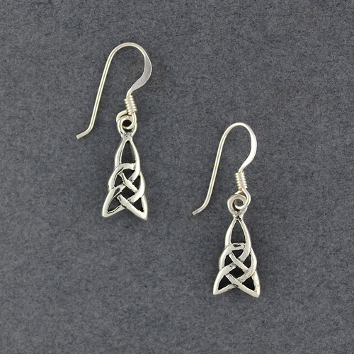 Sterling Silver Celtic Triangle Knot Earrings