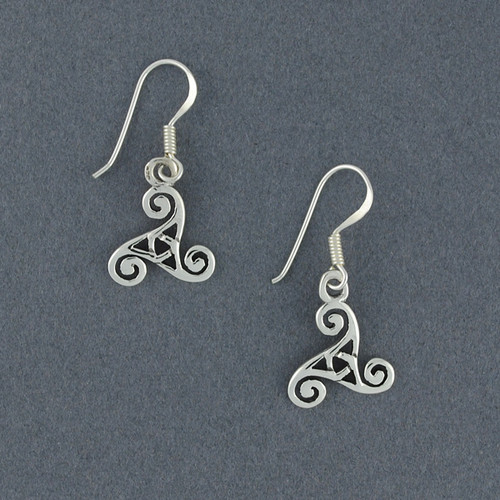 Sterling Silver Triskele Earrings