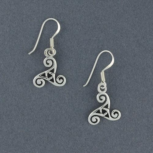 Sterling Silver Triskele Earrings