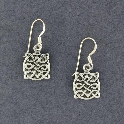 Sterling Silver Antique Celtic Shield Earrings