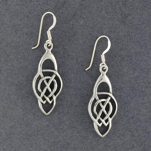 Sterling Silver Large Celtic Knot Earrings