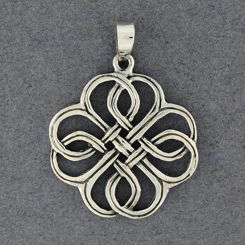 Sterling Silver Celtic Clover Pendant
