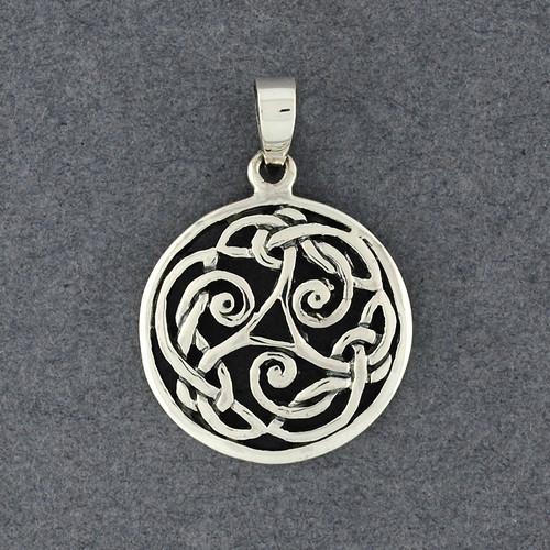 Sterling Silver Triskele Knot Pendant