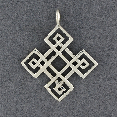 Sterling Silver Diamond Celtic Knot Pendant
