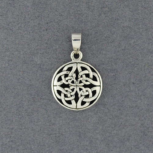 Sterling Silver Ornate Celtic Knot Pendant