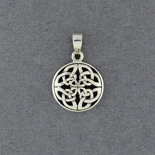 Sterling Silver Ornate Celtic Knot Pendant