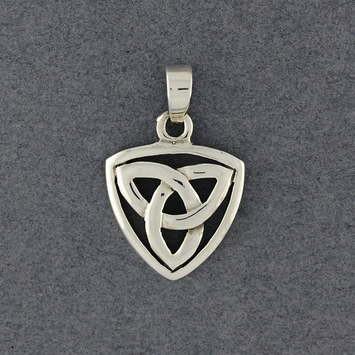 Sterling Silver Triangle Trinity Knot Pendant