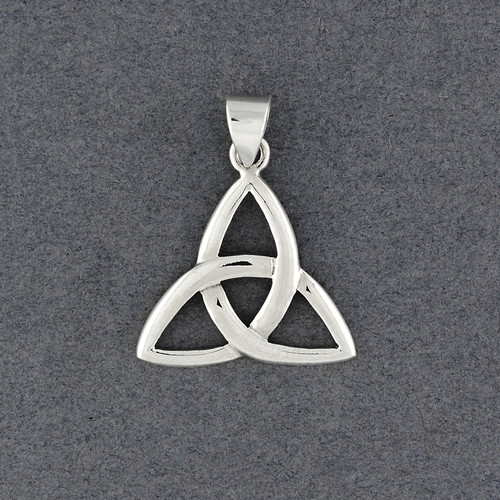 Sterling Silver Large Trinity Knot Pendant