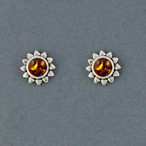 Sunshine Amber Stud Earrings