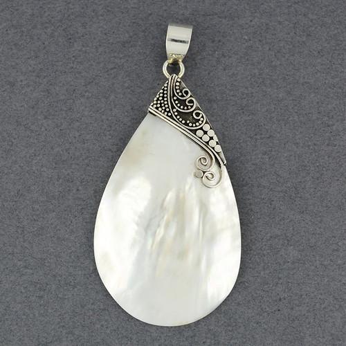Mother of Pearl Large Teardrop Pendant