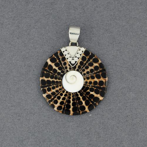Shiva's Eye Black & Tan Small Mosaic Pendant