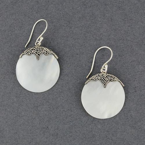 Mother of Pearl Petal Earrings