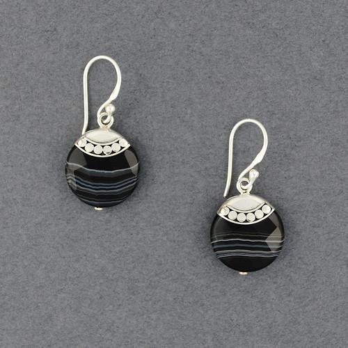 Banded Onyx Earrings