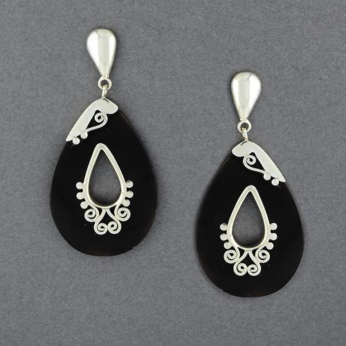 Teardrop Shell Post Earrings