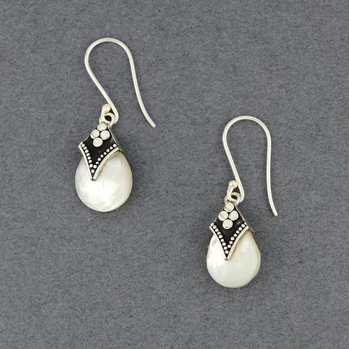 Mother of Pearl Tiny Teardrop Earrings