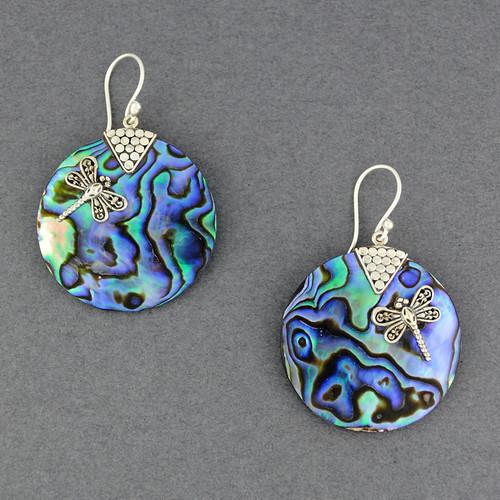 Abalone Dragonfly Earrrings
