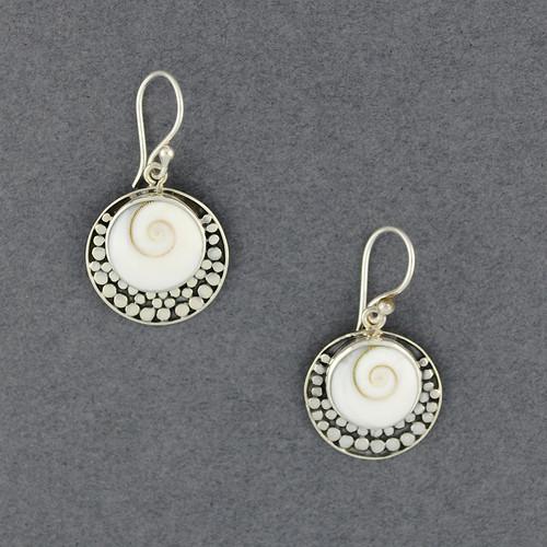 Shiva's Eye Dotted Circle Earrings