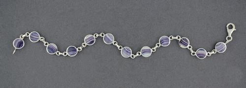 Wampum Round Link Bracelet