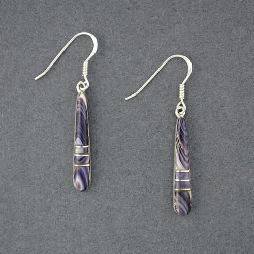 Wampum Long Mosaic Earrings