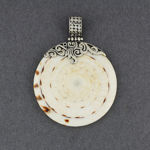 Cone Shell Large Ornate Pendant