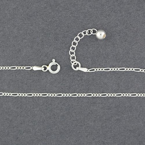 Sterling Silver Figaro Anklet