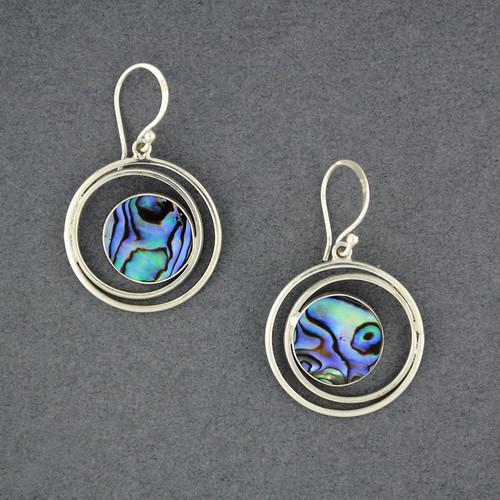 Abalone Circles Earrings