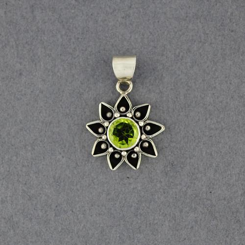 Peridot Flower Pendant