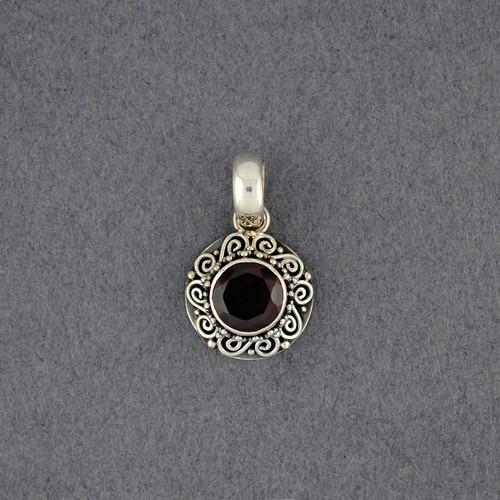Garnet Spirals Pendant