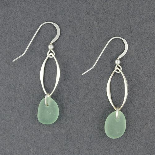 Marquee Drop Sea Glass Earrings