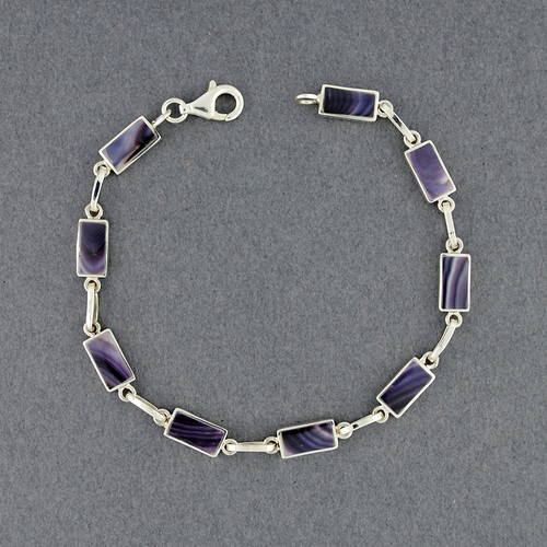 Wampum Rectangle Link Bracelet