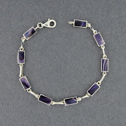 Wampum Rectangle Link Bracelet
