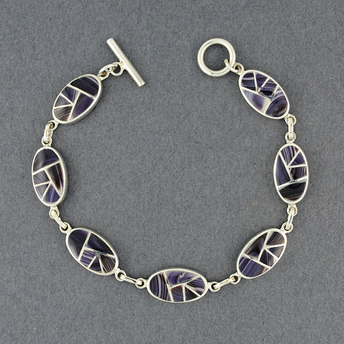 Wampum Mosaic Link Bracelet