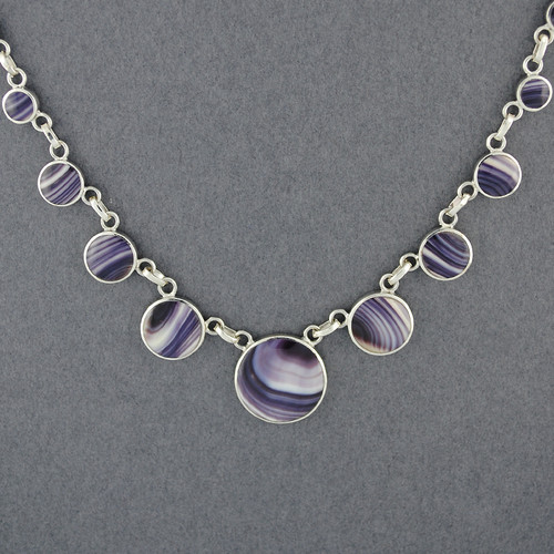 Wampum Graduated Circles Necklace
