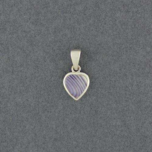 Wampum Small Heart Pendant