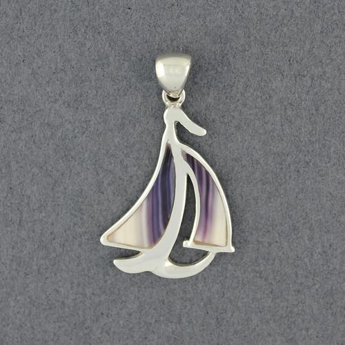Wampum Sail Boat Pendant