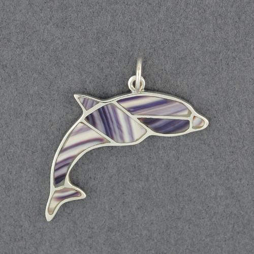 Wampum Mosaic Dolphin Pendant