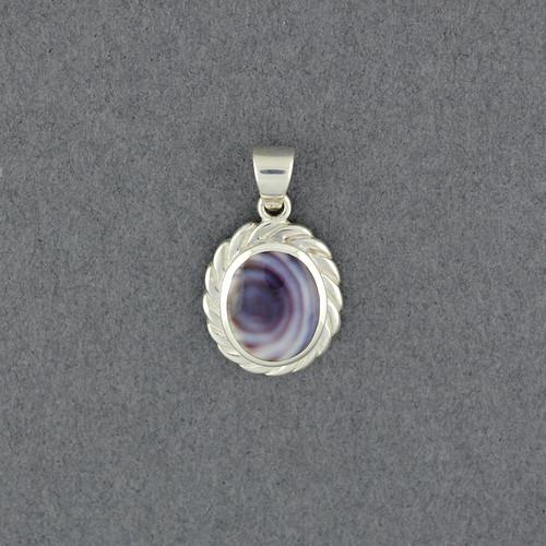 Wampum Oval Rope Pendant